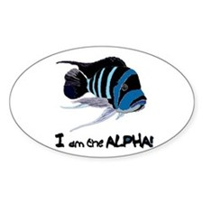 I am the Alpha (white) Oval Decal
