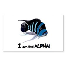 I am the Alpha (white) Rectangle Decal