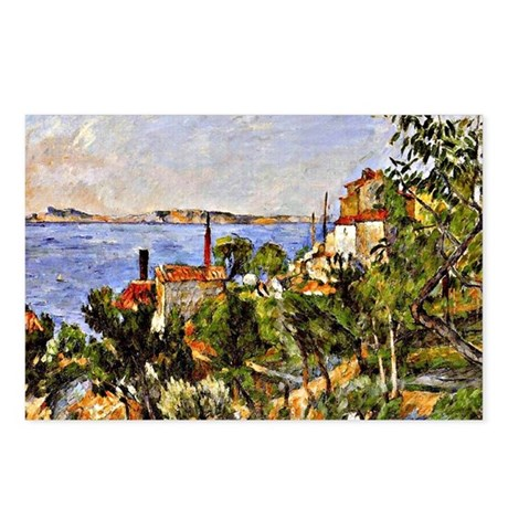 Cezanne: Landscape after Postcards (Package of 8)