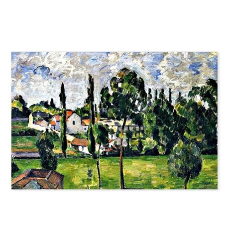 Cezanne: Landscape with W Postcards (Package of 8)