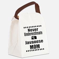 Never Underestimate javanese Cat Canvas Lunch Bag
