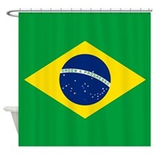 Flag of Brazil Shower Curtain