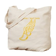 Custom Gold Running Shoe Tote Bag