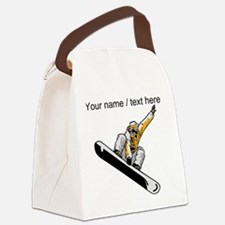 Custom Snowboarder Canvas Lunch Bag