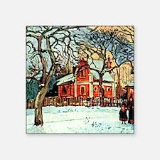 "Pissarro - Chestnut Trees L Square Sticker 3"" x 3"""
