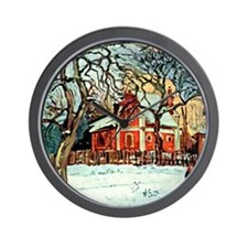 Pissarro - Chestnut Trees Louveciennes, Wall Clock