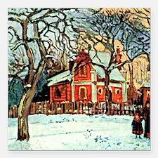 """Pissarro - Chestnut Tree Square Car Magnet 3"""" x 3"""""""