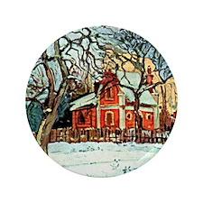 "Pissarro - Chestnut Trees Louveciennes 3.5"" Button"