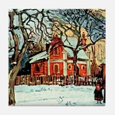 Pissarro - Chestnut Trees Louvecienne Tile Coaster