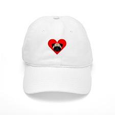 Fawn Valentine Pug Baseball Cap