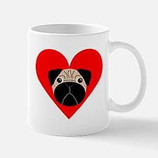 Fawn Valentine Pug Mug