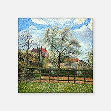 """Pissarro: Pear Tree and Flo Square Sticker 3"""" x 3"""""""