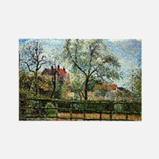 Pissarro: Pear Tree and Flowers a Rectangle Magnet
