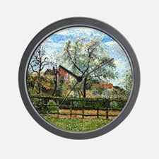 Pissarro: Pear Tree and Flowers at Erag Wall Clock