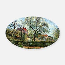 Pissarro: Pear Tree and Flowers at Oval Car Magnet