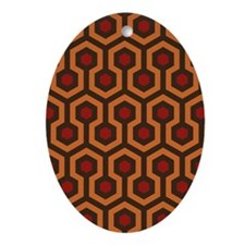 Horrible Hexagon Pattern Ornament (Oval)