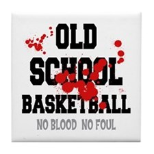 Old School Basketball Tile Coaster
