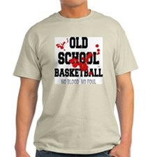 Old School Basketball Ash Grey T-Shirt
