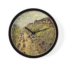 Pissarro: Boulevard Montmarte Wall Clock