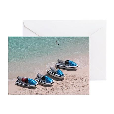 Jet Ski Beach - Greeting Cards (Pk of 10)