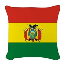 Flag of Bolivia Woven Throw Pillow
