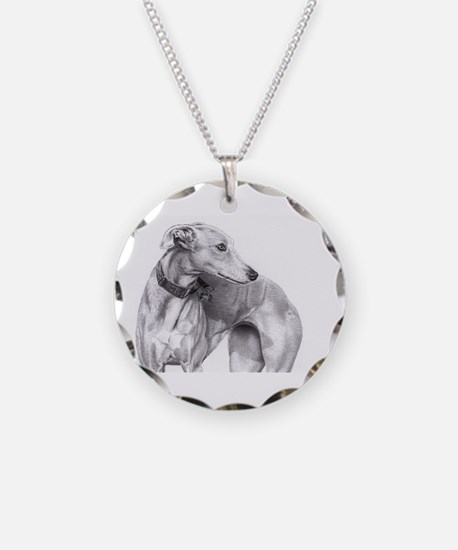 Cute Hunting dog Necklace Circle Charm