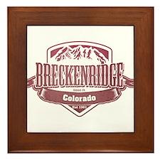 Breckenridge Colorado Ski Resort 2 Framed Tile