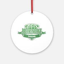 Breckenridge Colorado Ski Resort 3 Ornament (Round