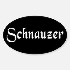 Schnauzer Sticker (Oval)