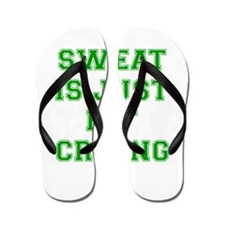 sweat-is-just-fat-crying-VAR-GREEN Flip Flops