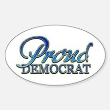 Classy Proud Democrat Oval Decal