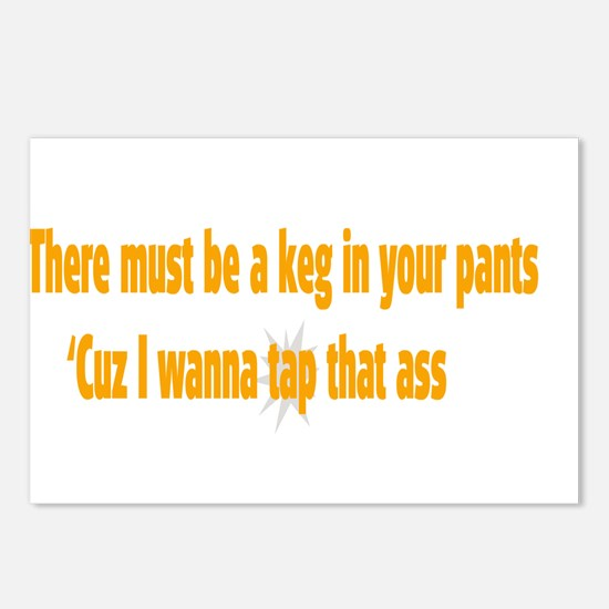 Keg in your pants Postcards (Package of 8)