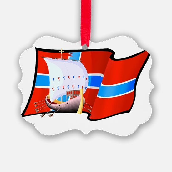 Norwegian Viking Ship Ornament