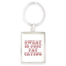 sweat-is-just-fat-crying-max-red Keychains