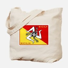 Flag of Sicily Tote Bag