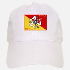 Flag of Sicily Baseball Baseball Cap