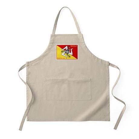 Flag of Sicily BBQ Apron