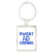 sweat-is-just-fat-crying-cap-blue Keychains