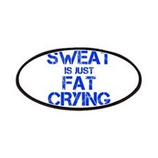 sweat-is-just-fat-crying-cap-blue Patches