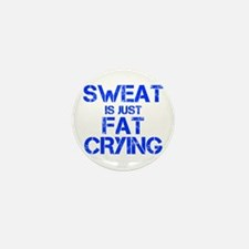 sweat-is-just-fat-crying-cap-blue Mini Button
