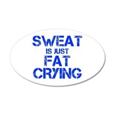 sweat-is-just-fat-crying-cap-blue Wall Decal