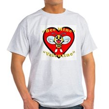 Bee Mine, Valentine Ash Grey T-Shirt