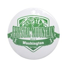 Crystal Mountain Washington Ski Resort 3 Ornament