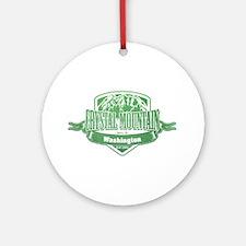 Crystal Mountain Washington Ski Resort 3 Ornament