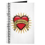 Drummer Tattoo Heart Art Journal