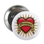 Drummer Tattoo Heart Art 2.25