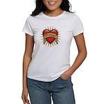 Drummer Tattoo Heart Art Women's T-Shirt
