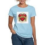Drummer Tattoo Heart Art Women's Light T-Shirt