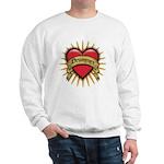 Drummer Tattoo Heart Art Sweatshirt