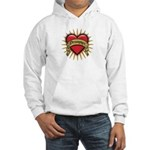 Drummer Tattoo Heart Art Hooded Sweatshirt